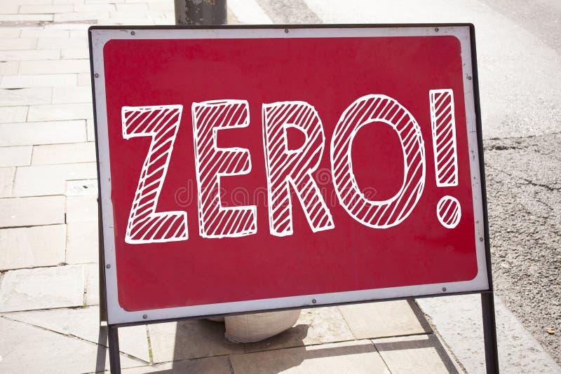 Схематическая воодушевленность титра текста сочинительства руки показывая нул Концепция дела для zero допуска Nought нулей написа стоковая фотография