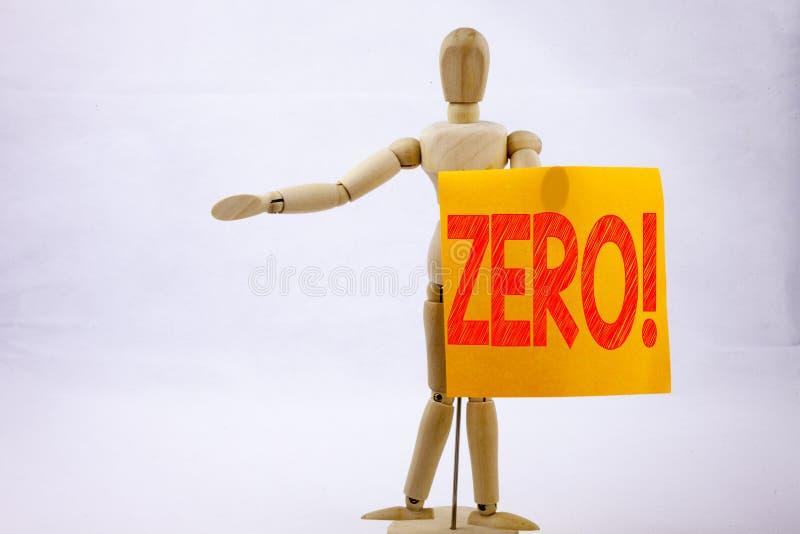 Схематическая воодушевленность титра текста сочинительства руки показывая zero концепцию дела для zero допуска Nought нулей напис стоковая фотография rf