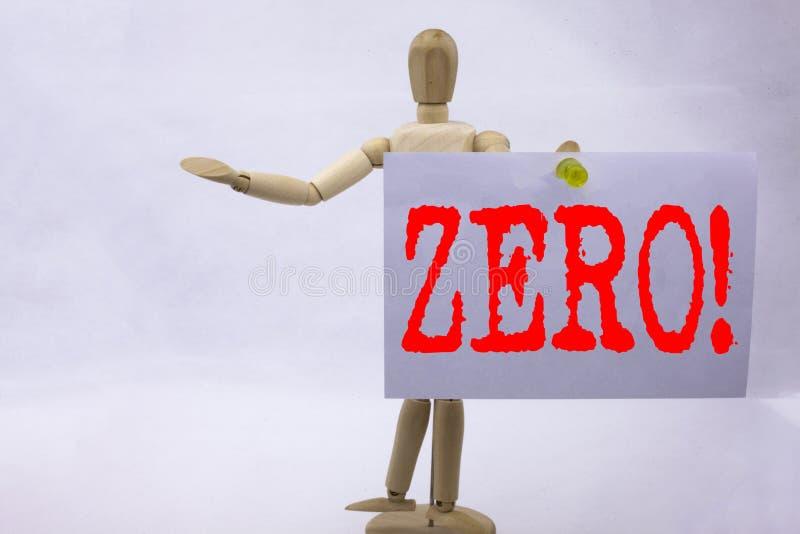 Схематическая воодушевленность титра текста сочинительства руки показывая zero концепцию дела для zero допуска Nought нулей напис стоковое изображение rf