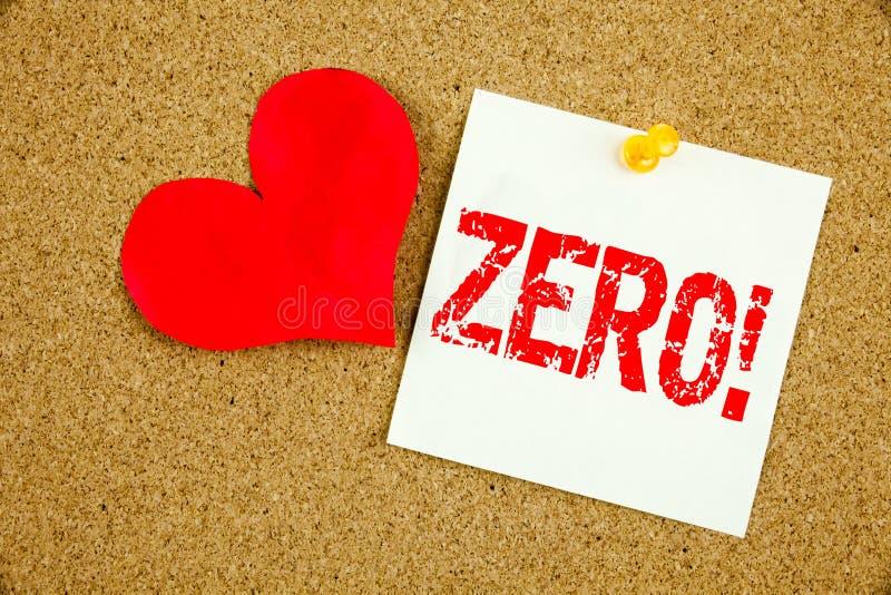 Схематическая воодушевленность титра текста сочинительства руки показывая zero концепцию для zero допуска Nought нулей и влюбленн стоковое фото rf