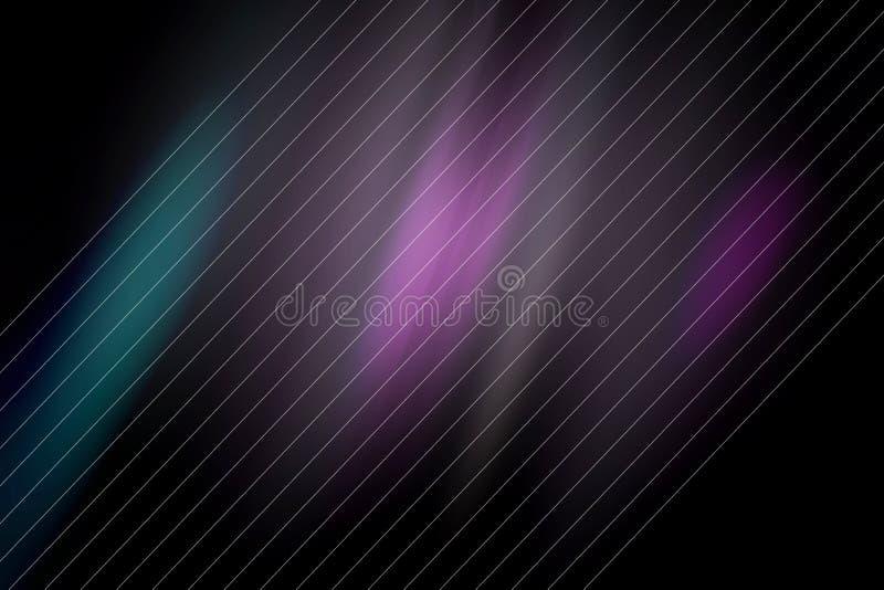 Схематическая, высокотехнологичная, абстрактная запачканная, темная предпосылка иллюстрация вектора