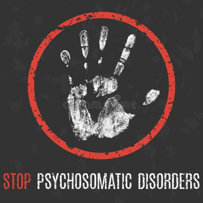 Схематическая иллюстрация вектора Человеческая болезнь Разлады стопа психосоматические бесплатная иллюстрация