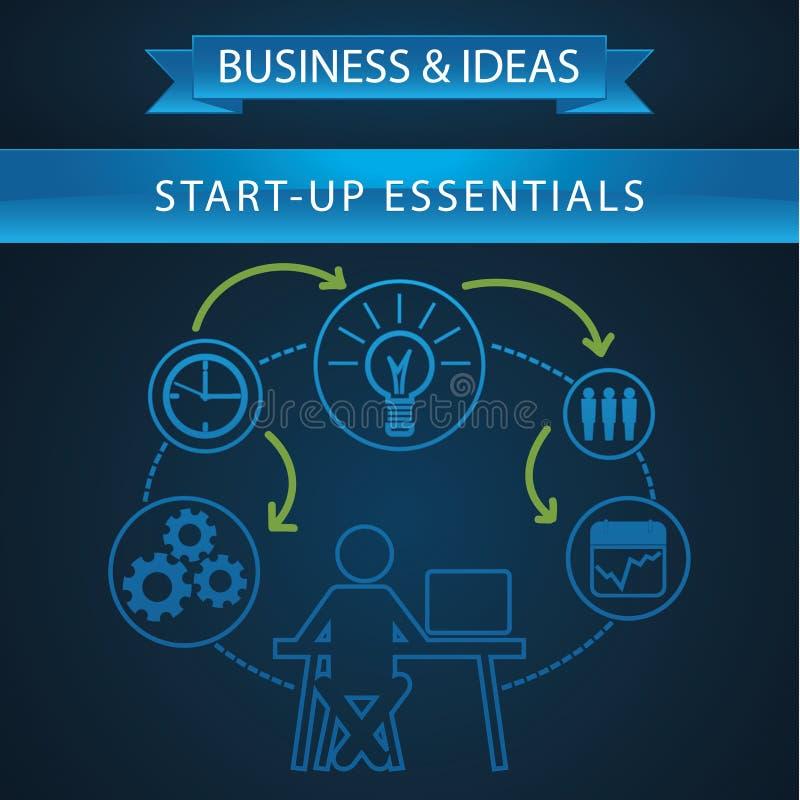 Схематический график информации с бизнесменом бесплатная иллюстрация