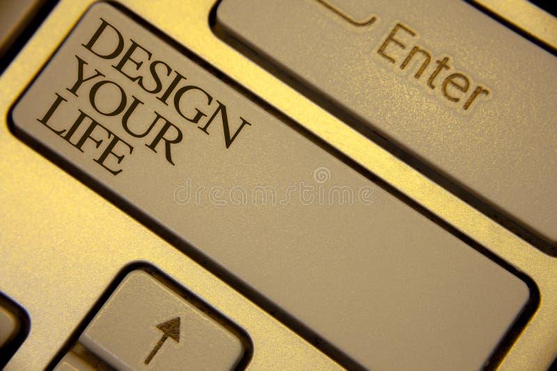 Схематический дизайн показа сочинительства руки ваша жизнь Мечты целей жизни планов текста фото дела установленные принимают упра стоковое фото