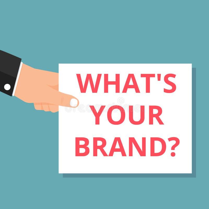 Схематический показывать сочинительства чего s ваш вопрос о бренда иллюстрация штока