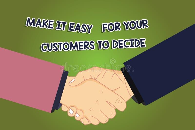 Схематический показ сочинительства руки делает его легкий для ваших клиентов решить Showcasing фото дела дает клиентам хороший эк иллюстрация штока