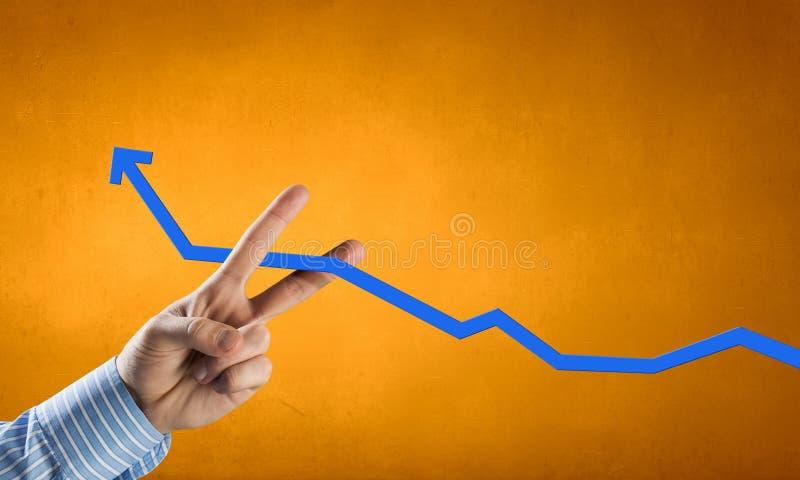 схематическим финансовохозяйственным белизна роста изолированная изображением стоковое изображение