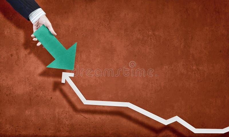 схематическим финансовохозяйственным белизна роста изолированная изображением стоковая фотография