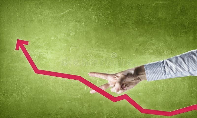 схематическим финансовохозяйственным белизна роста изолированная изображением стоковые изображения rf