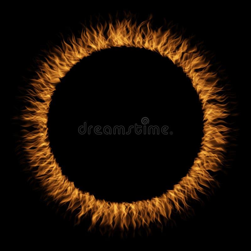 Схематическое желтое оранжевое горячее свирепствуя пламя огня иллюстрация штока