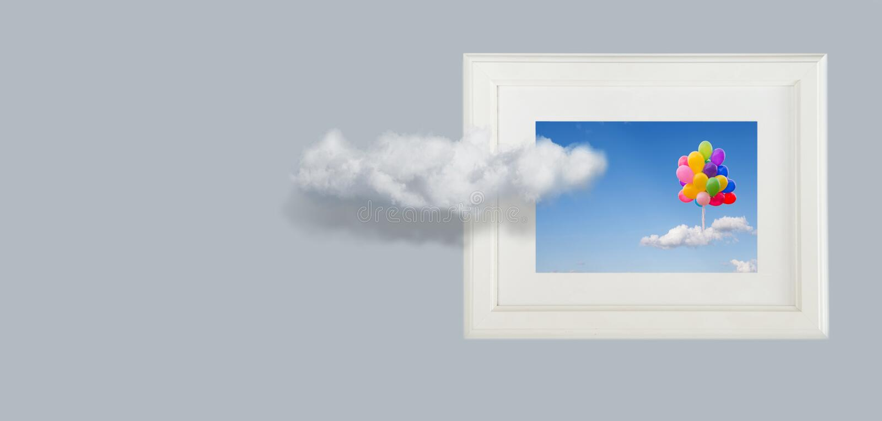 Схематическое изображение облаков неба стоковые изображения rf
