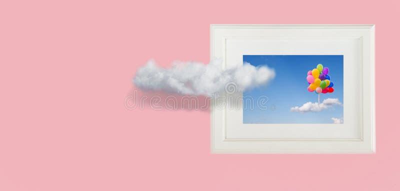 Схематическое изображение облаков неба стоковые фотографии rf