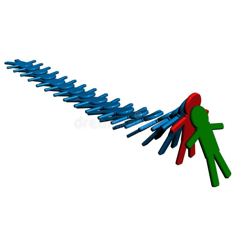 Схематическое изображение сыгранности. бесплатная иллюстрация