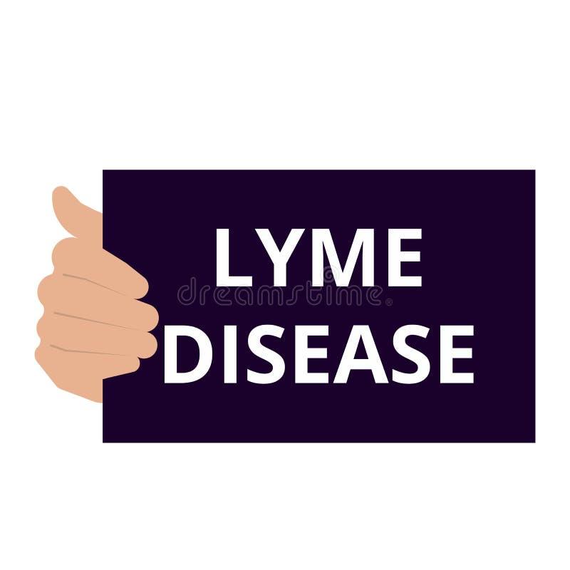 Схематическое писать показывая заболевание Lyme иллюстрация штока