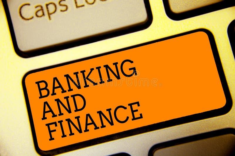 Схематическое сочинительство руки показывая банк и финансы Бухгалтерия текста фото дела и интересы денег запасов реальностей заст стоковые фотографии rf