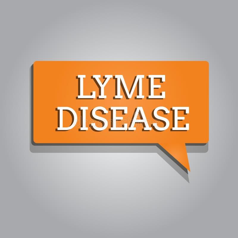 Схематическое сочинительство руки показывая заболевание Lyme Текстовая форма фото дела артрита причиненная бактериями которые пол иллюстрация вектора