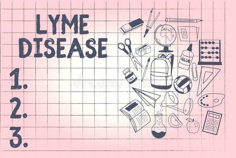 Схематическое сочинительство руки показывая заболевание Lyme Форма фото дела showcasing артрита причиненная бактериями которые по иллюстрация штока