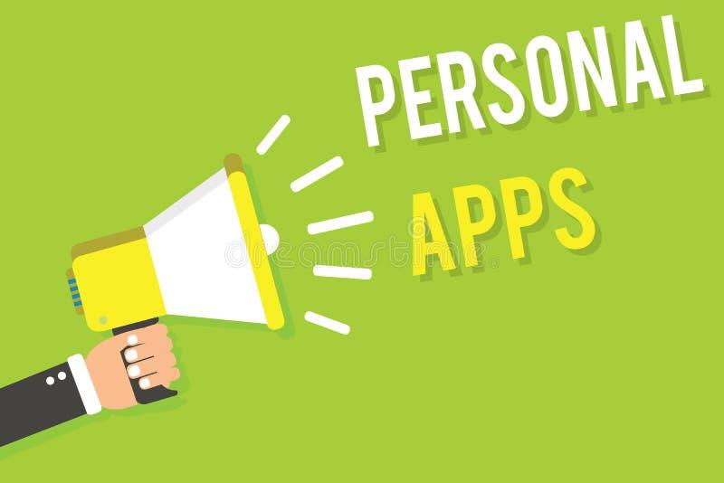 Схематическое сочинительство руки показывая личное Apps Данные по данным по онлайн календаря организатора текста фото дела частны стоковые фото
