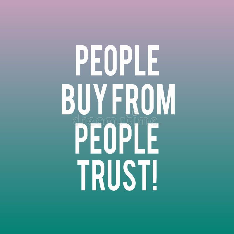 Схематическое сочинительство руки показывая людей для покупки от людей они доверяют доверию и клиенту фото дела showcasing строя бесплатная иллюстрация