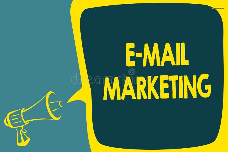 Схематическое сочинительство руки показывая маркетинг электронной почты Электронная коммерция фото дела showcasing рекламируя онл иллюстрация штока