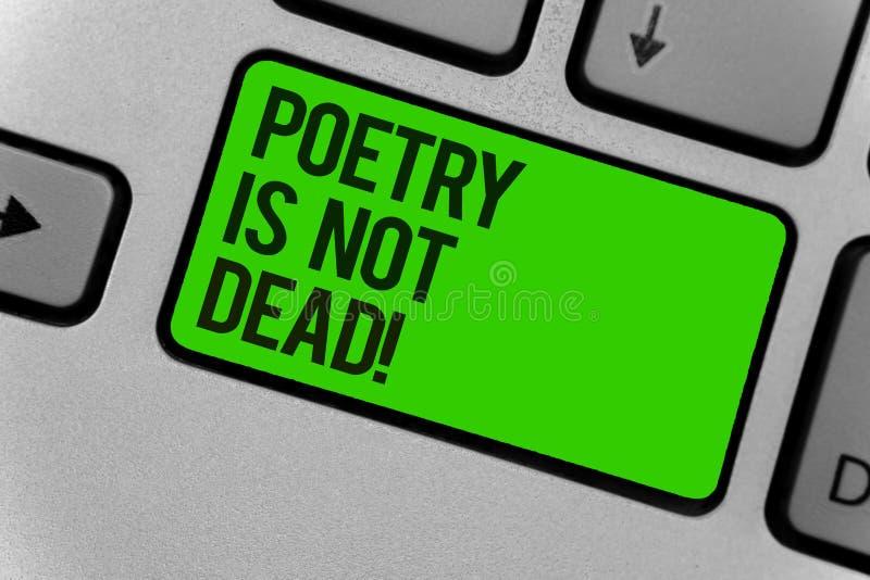 Схематическое сочинительство руки показывая поэзию не мертво Фото дела showcasing астетическое и звукомерное сочинительство все е иллюстрация штока