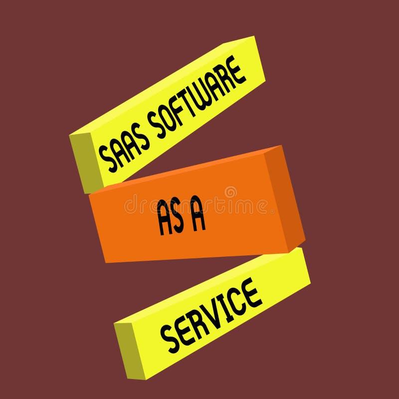 Схематическое сочинительство руки показывая программное обеспечение Saas как обслуживание Текст фото дела польза облака основал A бесплатная иллюстрация