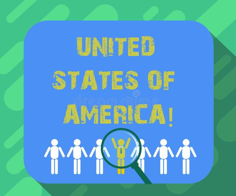 Схематическое сочинительство руки показывая Соединенные Штаты Америки Страна текста фото дела в северном прописном DC Вашингтона иллюстрация вектора