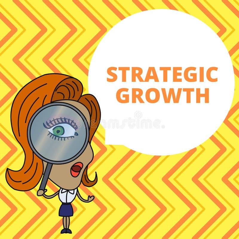 Схематическое сочинительство руки показывая стратегический рост Showcasing фото дела создает план или расписание для увеличения з иллюстрация вектора