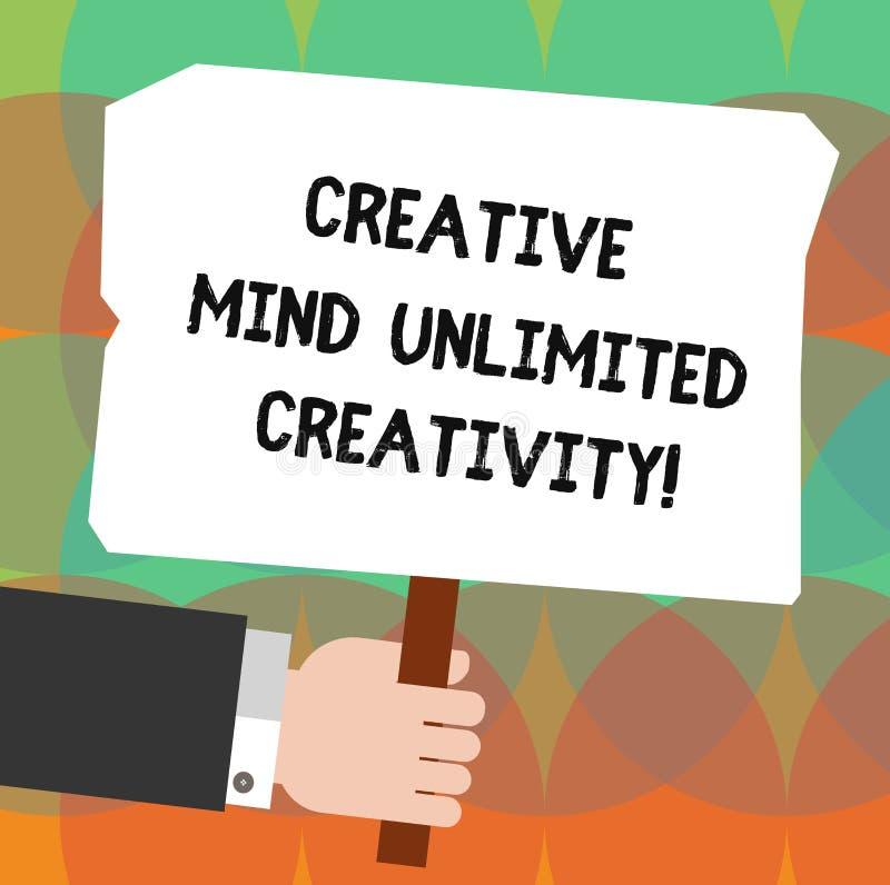Схематическое сочинительство руки показывая творческому разуму неограниченные творческие способности Фото дела showcasing вполне  иллюстрация штока