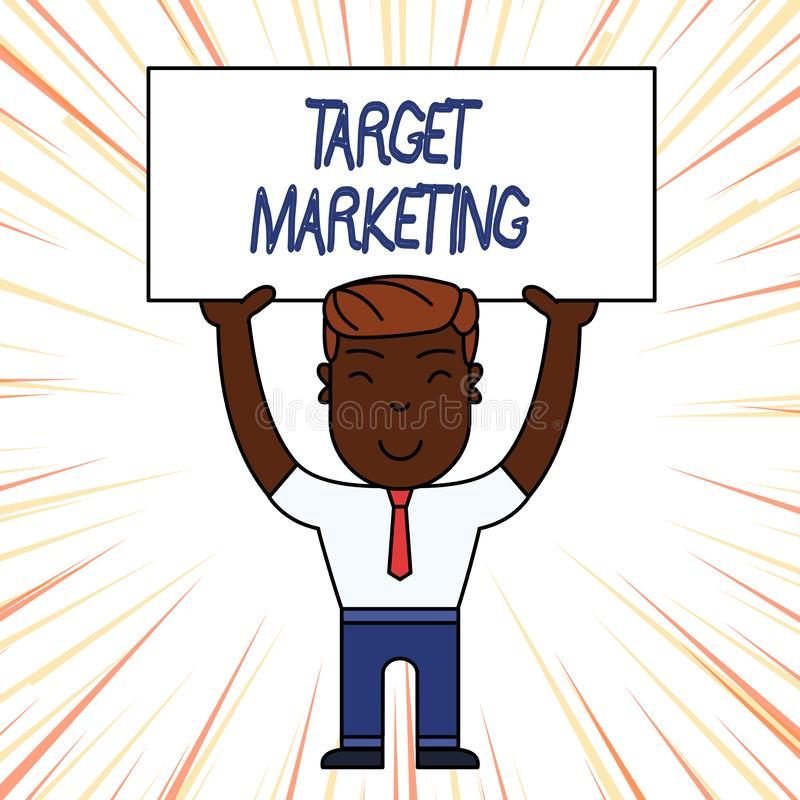 Схематическое сочинительство руки показывая целевой маркетинг Клиенты клиентов аудитории фото дела showcasing выбранные целью бесплатная иллюстрация