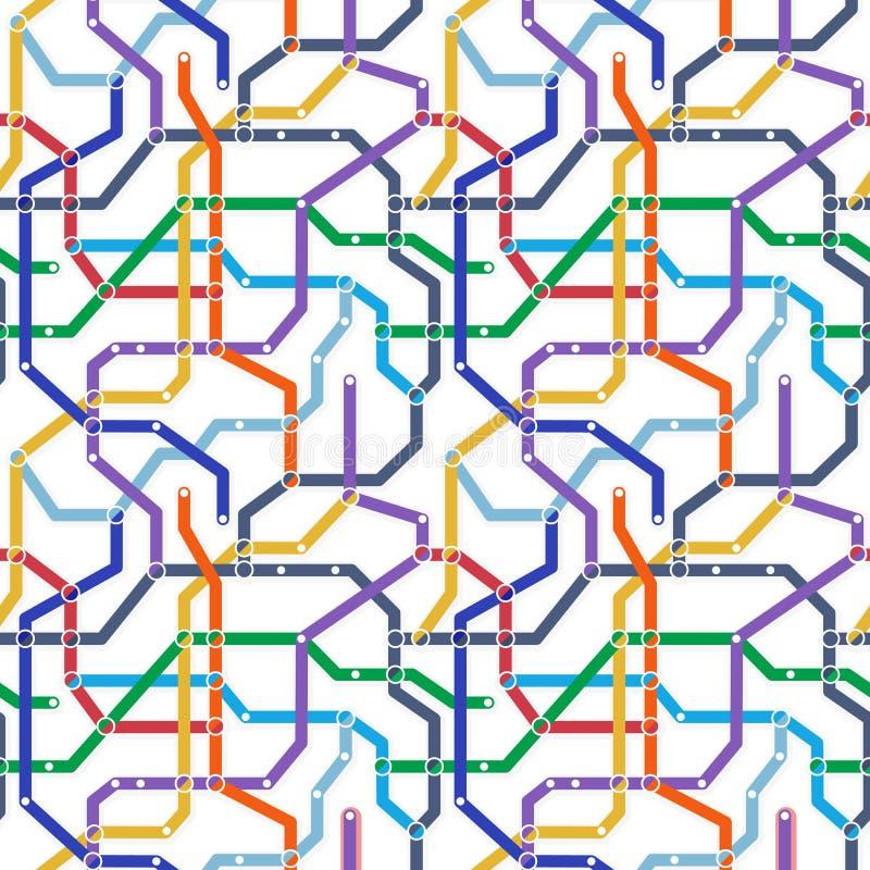 Схема железнодорожного транспорта метро цвета на белой предпосылке Abstra бесплатная иллюстрация