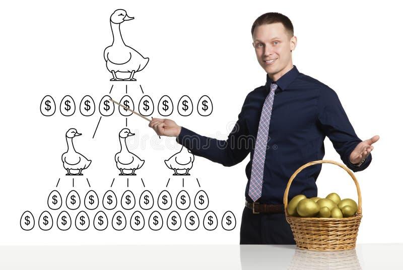 Схема успешного дела стоковое изображение