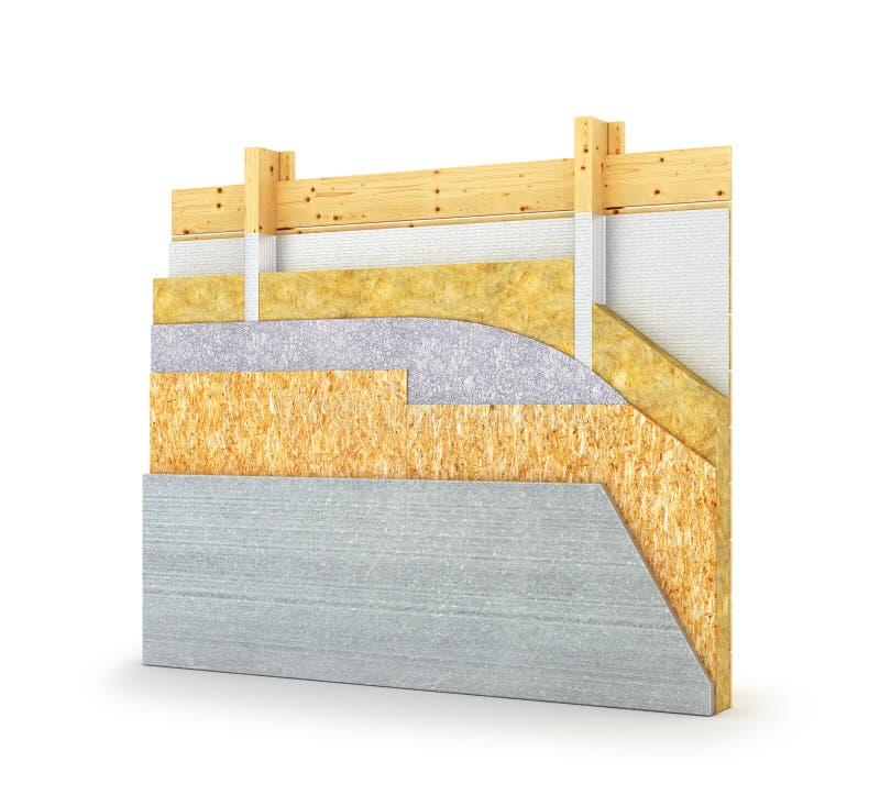 Схема установки пола для деревянного дома 3d иллюстрация штока
