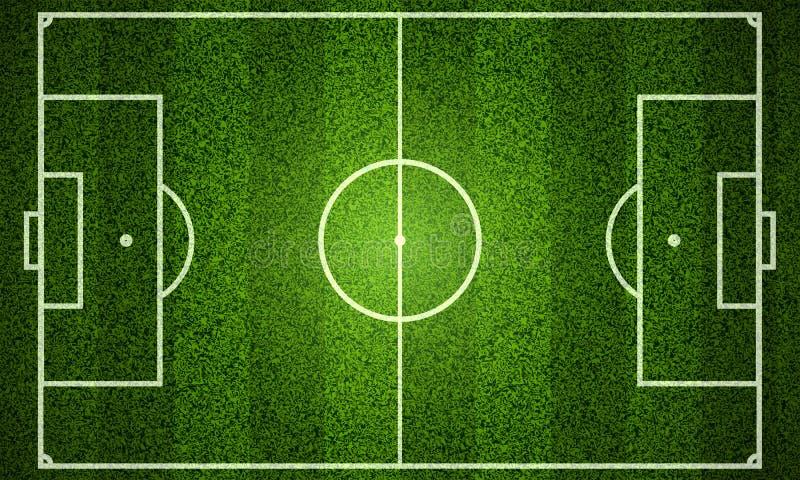Схема футбольного поля иллюстрация вектора