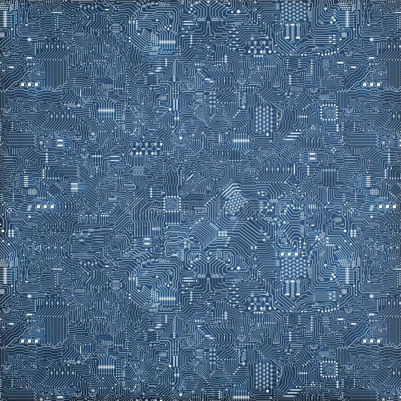 схема eps цепи доски 10 предпосылок голубая иллюстрация вектора