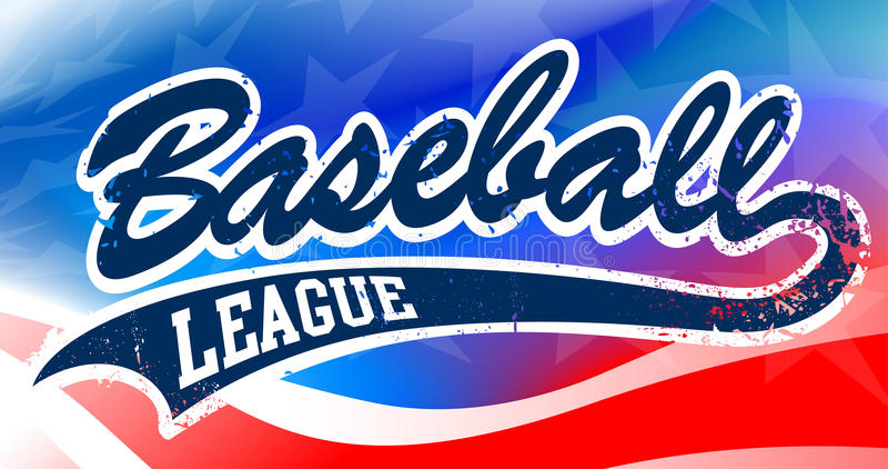 Сценарий бейсбола на предпосылке американского флага иллюстрация штока