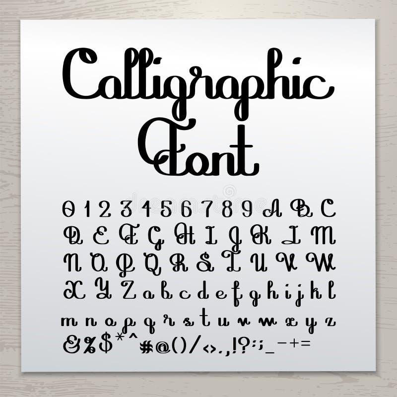 Сценарий написанный рукой каллиграфический бесплатная иллюстрация