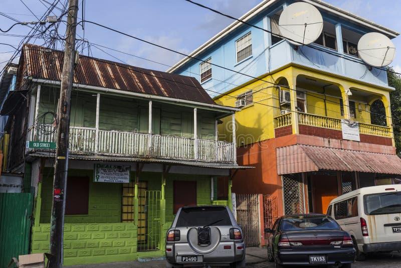 Сценарная деревянная хата в квартальной территории Кариб в Розо стоковое фото rf