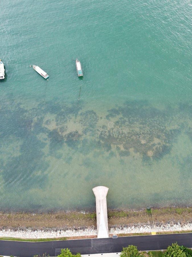 Сценарная съемка побережьем стоковая фотография