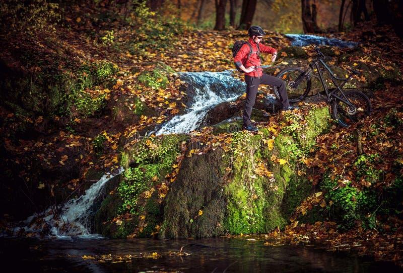 Сценарное отключение велосипеда стоковое фото