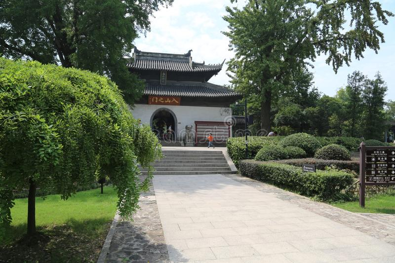 Сценарное пятно langshan в провинция Nantong, Цзянсу, Китай стоковое изображение rf