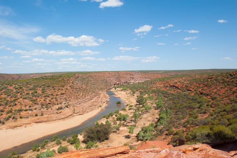 Сценарное ущелье Австралия Kalbarri стоковое изображение rf