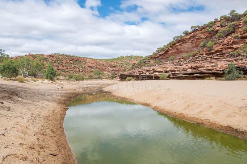 Сценарное ущелье реки Murchison стоковая фотография