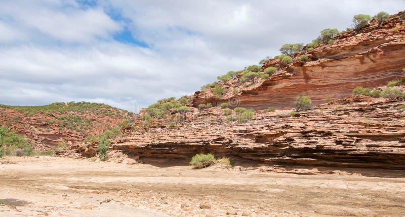 Сценарные скалы в ущелье реки Murchison стоковое фото rf