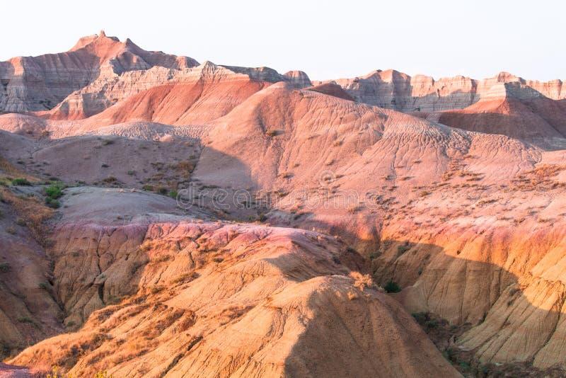 Сценарный взгляд на заходе солнца в национальном парке неплодородных почв стоковые фотографии rf