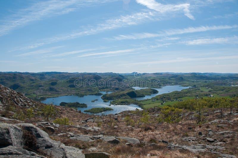 Сценарный взгляд юговосточного ландшафта в Норвегии стоковое изображение