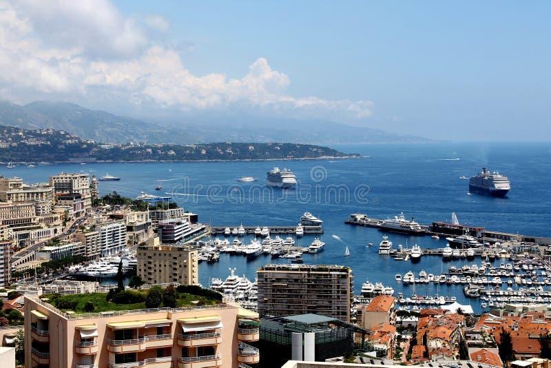Сценарный взгляд Марина Монте-Карло, Монако стоковое фото rf