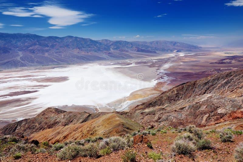 Сценарный взгляд Death Valley от точки зрения взгляда Dante стоковое фото