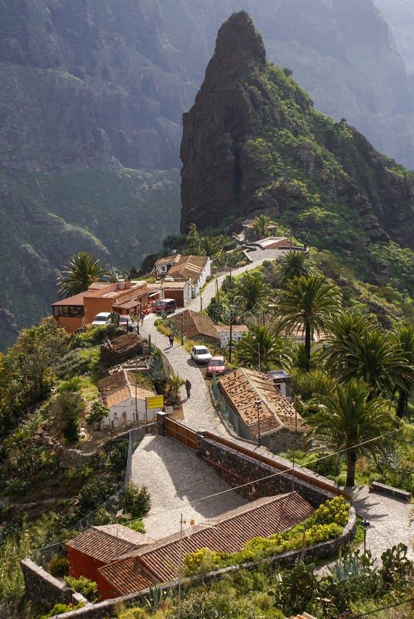 Сценарный взгляд Masca, Тенерифе, Канарских островов, Испании стоковая фотография