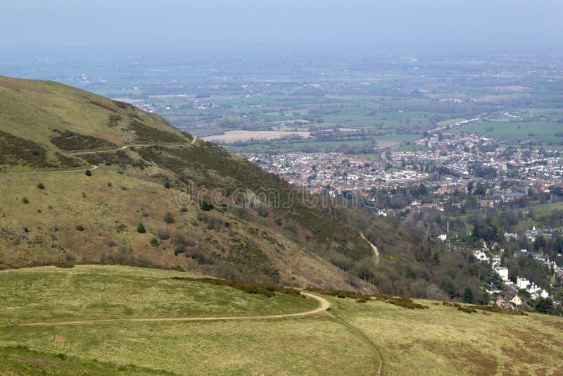 Сценарный Вустершир - холмы Malvern стоковые фотографии rf